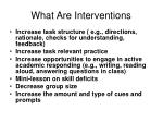 what are interventions53