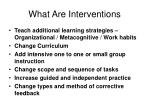 what are interventions54