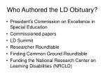 who authored the ld obituary