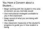 you have a concern about a student