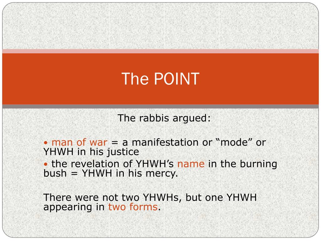 The rabbis argued: