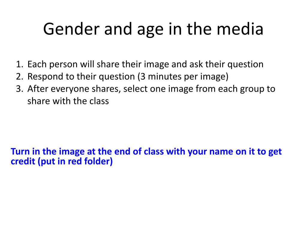 Gender and age in the media