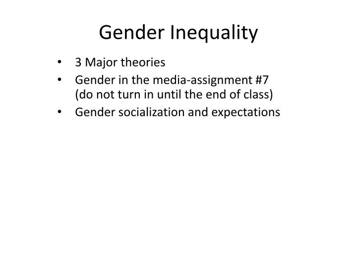 gender inequality n.