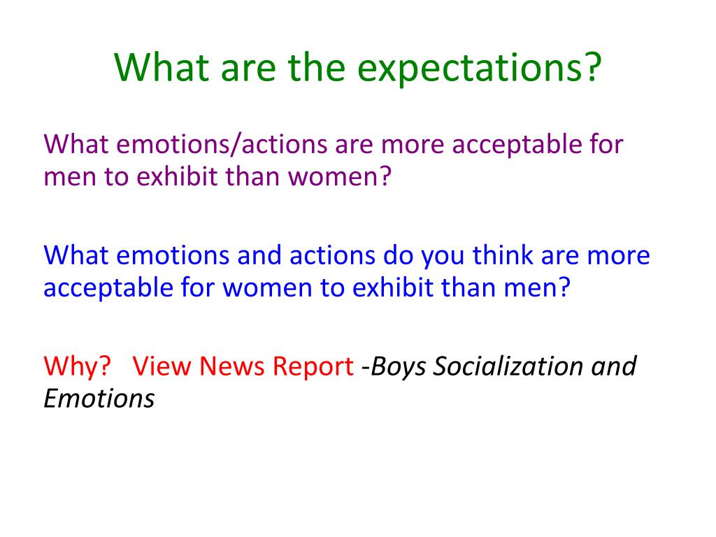 What are the expectations?