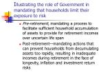 i llustrating the role of government in mandating that households limit their exposure to risk