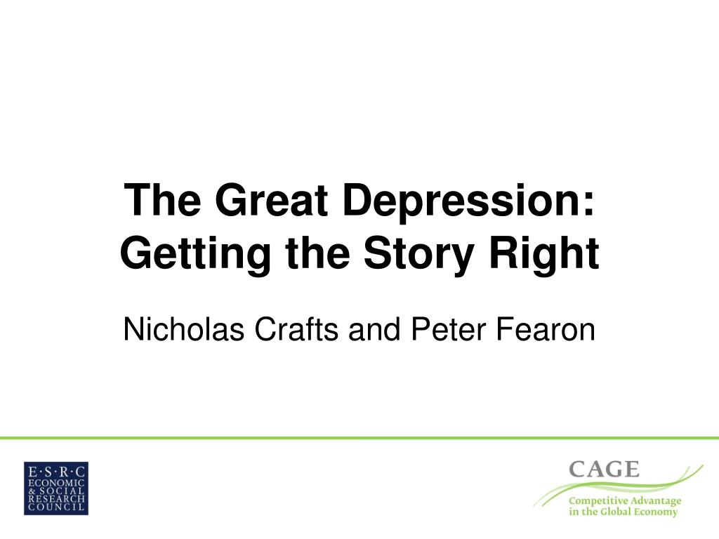 the great depression getting the story right l.