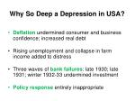 why so deep a depression in usa