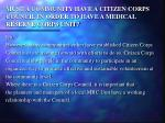 must a community have a citizen corps council in order to have a medical reserve corps unit
