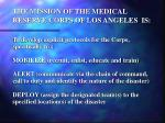 the mission of the medical reserve corps of los angeles is9