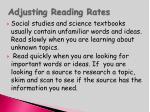 adjusting reading rates88