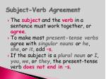 subject verb agreement46
