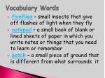 vocabulary words16