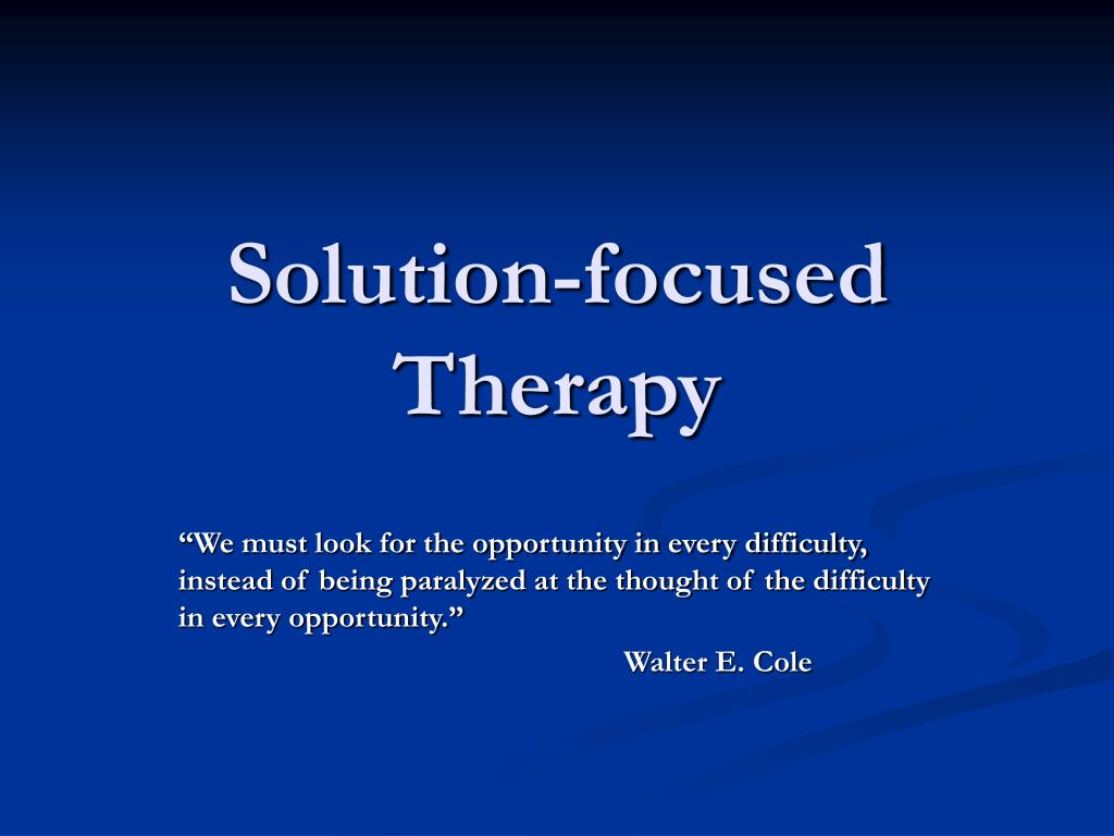 solution focused therapy l.
