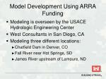 model development using arra funding
