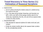 trend discovery in time series 1 estimation of seasonal variations