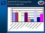 wm wwtp existing unit process capacities