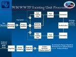 wm wwtp existing unit processes