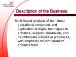 description of the business5