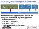 infor integration enterprise software bus