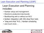 lean execution and planning leap