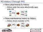po history through pm