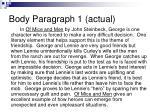 body paragraph 1 actual
