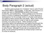 body paragraph 2 actual