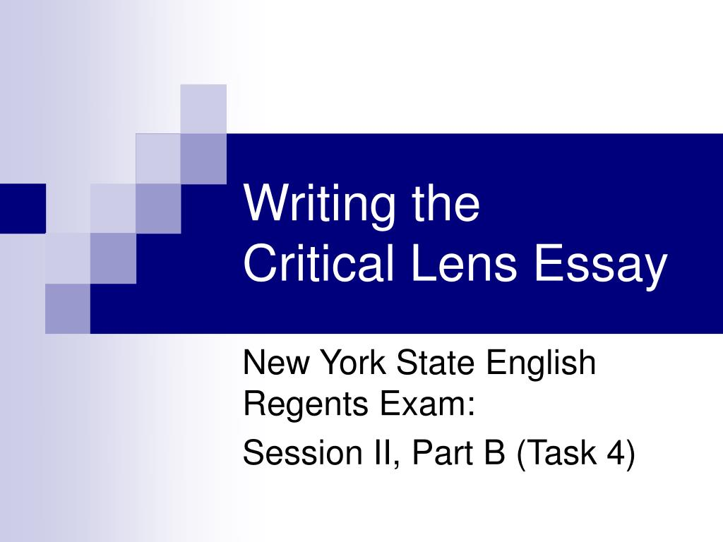 writing the critical lens essay l.