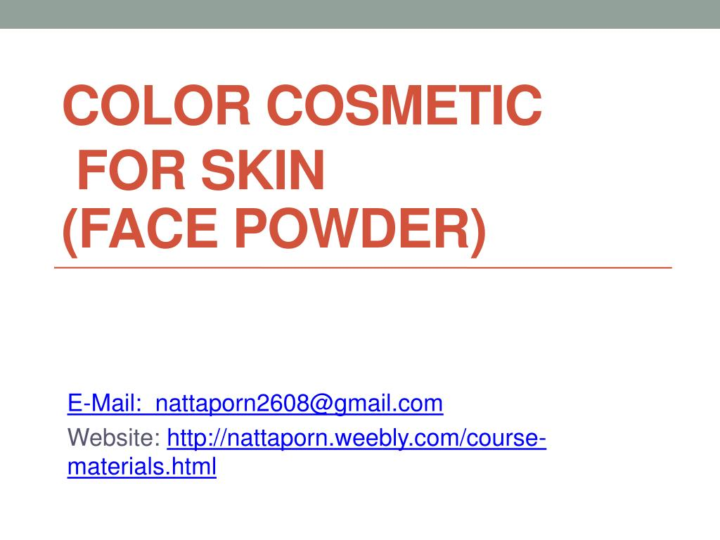 color cosmetic for skin face powder l.