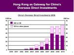 hong kong as gateway for china s overseas direct investments