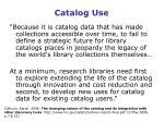 catalog use