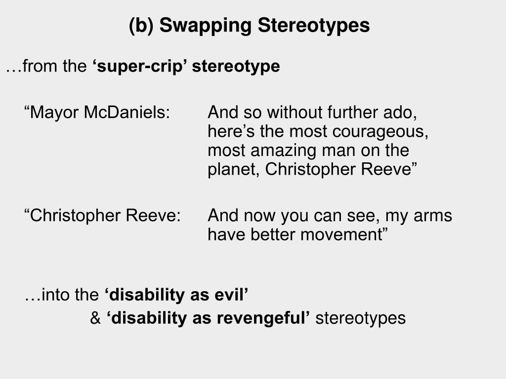 (b) Swapping Stereotypes