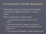 concentrated growth strategies19
