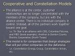 cooperative and constellation models