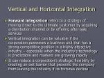 vertical and horizontal integration24