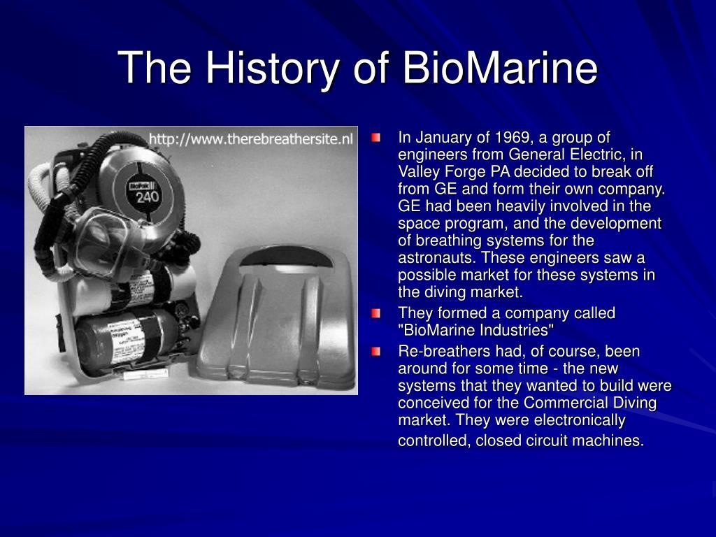 the history of biomarine l.