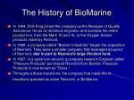 the history of biomarine13