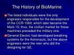 the history of biomarine4