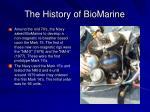 the history of biomarine9