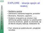 explore iskanje spojin ali reakcij92