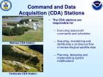 command and data acquisition cda stations