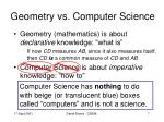 geometry vs computer science