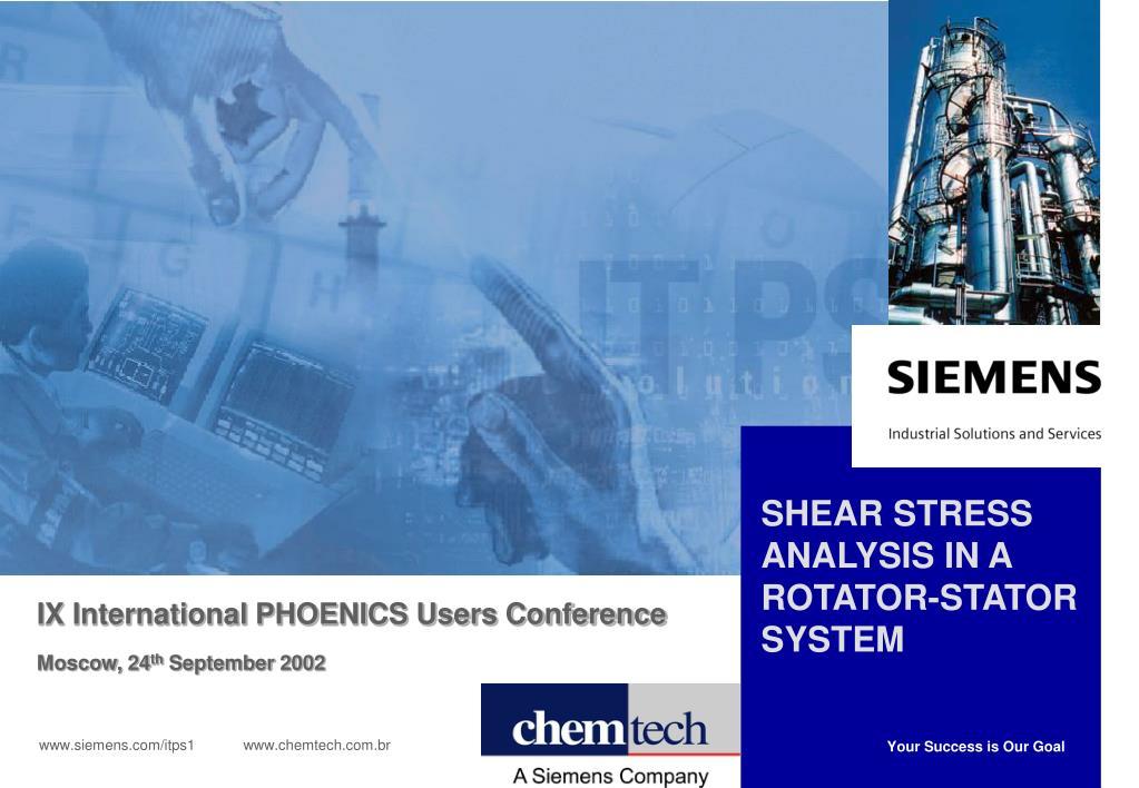 shear stress analysis in a rotator stator system l.