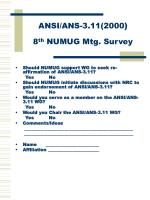 ansi ans 3 11 2000 8 th numug mtg survey
