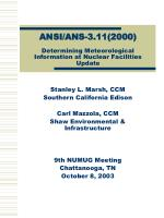 ansi ans 3 11 2000 determining meteorological information at nuclear facilities update