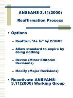 ansi ans 3 11 2000 reaffirmation process