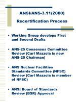 ansi ans 3 11 2000 recertification process