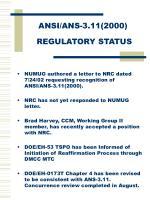 ansi ans 3 11 2000 regulatory status