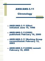 ansi ans 3 11 chronology