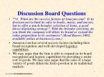 discussion board questions